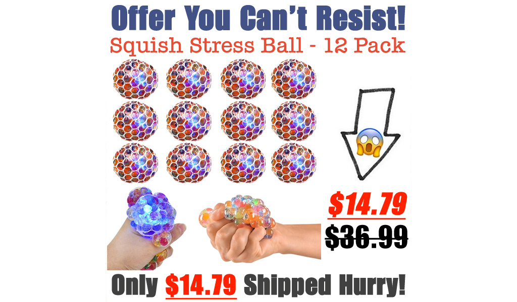 Squish Stress Ball - 12 Pack Only $14.79 Shipped on Amazon (Regularly $36.99)