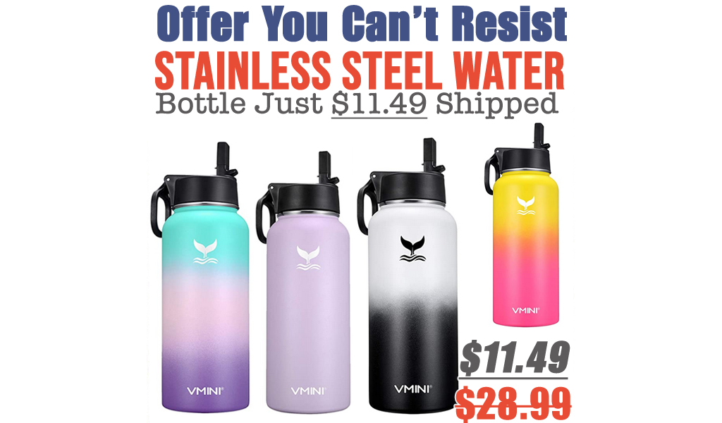 Stainless Steel Water Bottle Just $11.49 Shipped on Amazon (Regularly $28.99)