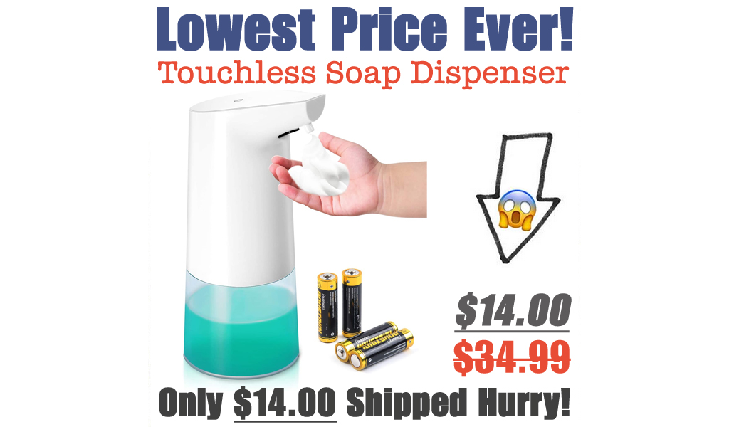 Touchless Foam Soap Dispenser Only $14.00 Shipped (Regularly $34.99)