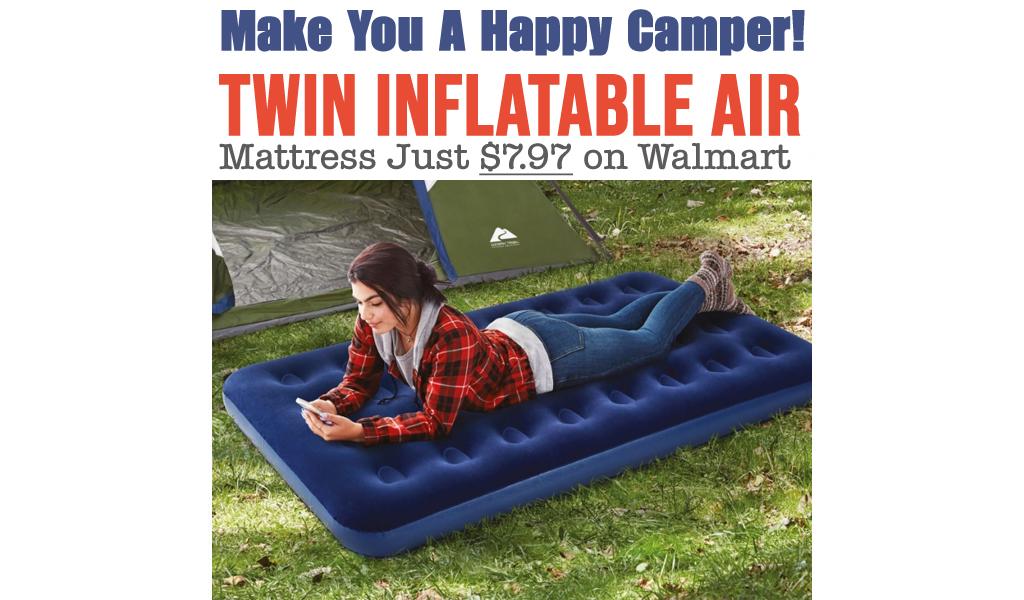 Twin Inflatable Air Mattress Just $7.97 on Walmart