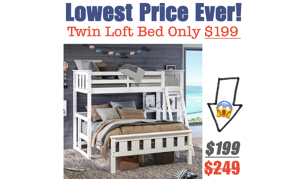 Twin Loft Bed Only $199 Shipped on Walmart.com (Regularly $249)