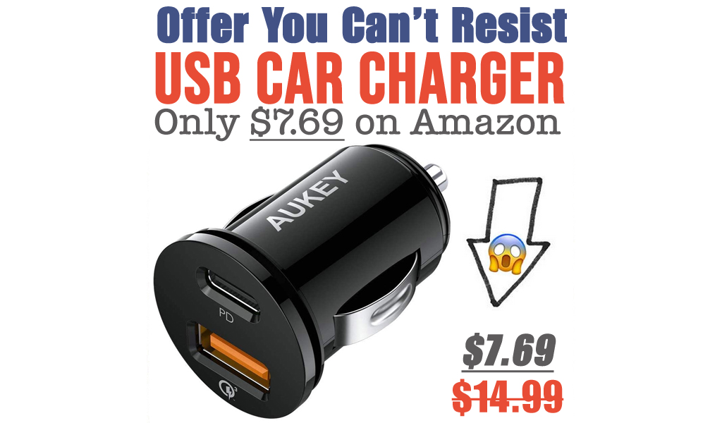USB Car Charger Only $7.69 on Amazon (Regularly $14.99)