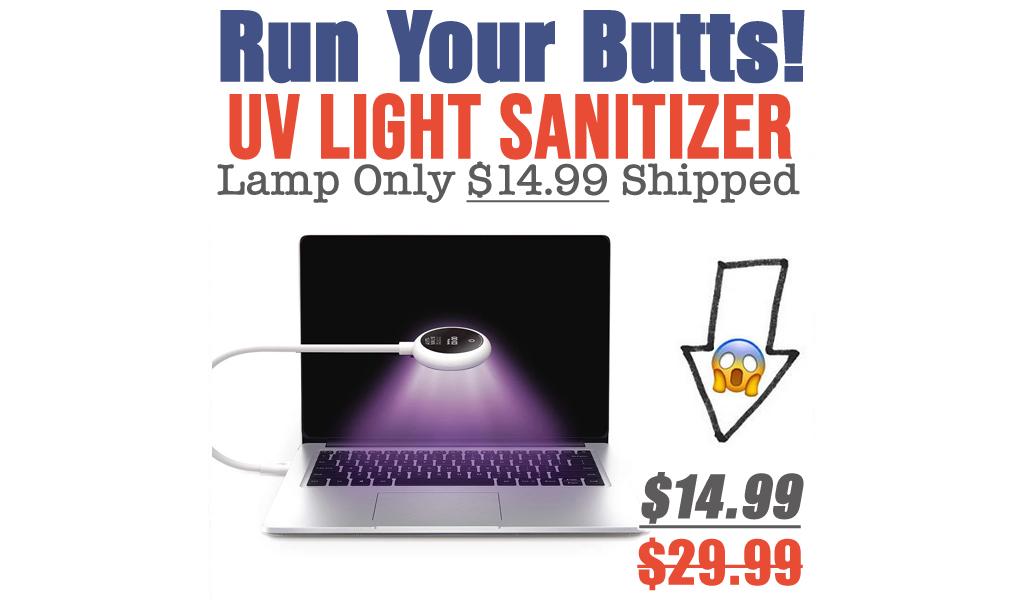 UV Light Sanitizer Lamp Only $14.99 Shipped (Regularly $29.99)