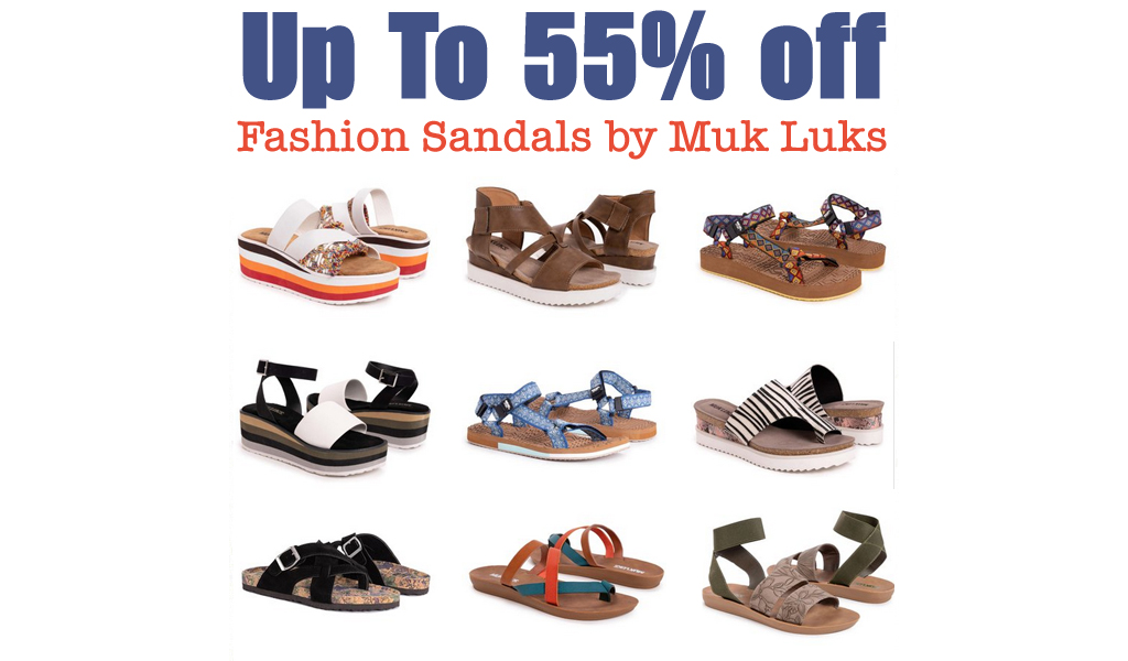 Up to 55% Off Women's Muk Luks Sandals on Zulily.com (Regularly $35+)