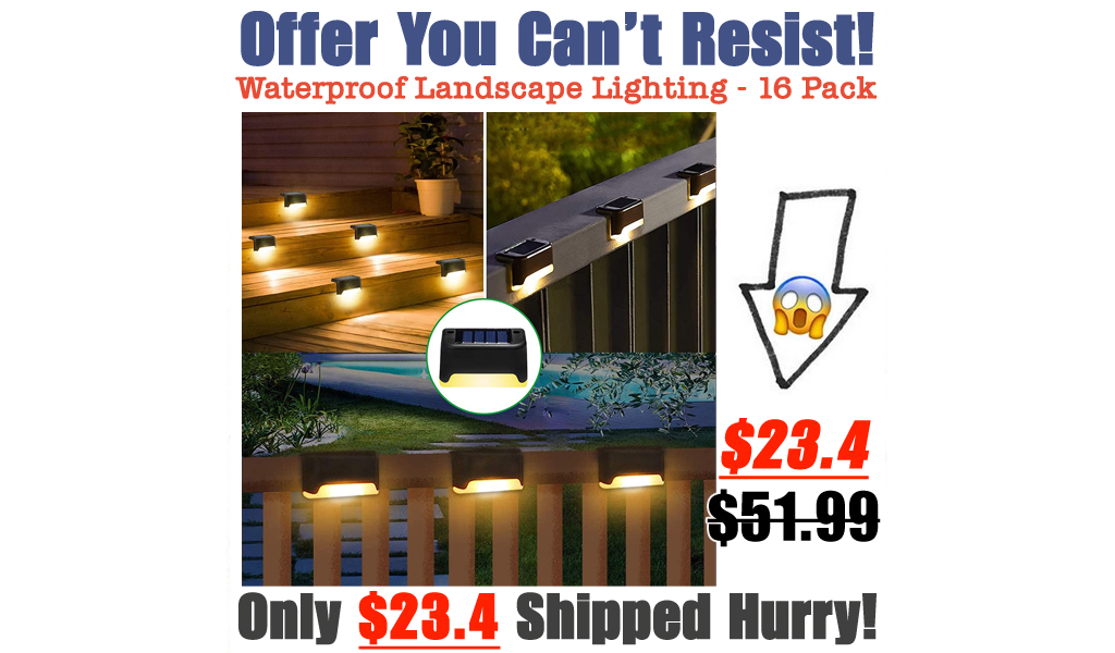 Waterproof Landscape Lighting - 16 Pack Only $23.4 Shipped on Amazon (Regularly $51.99)