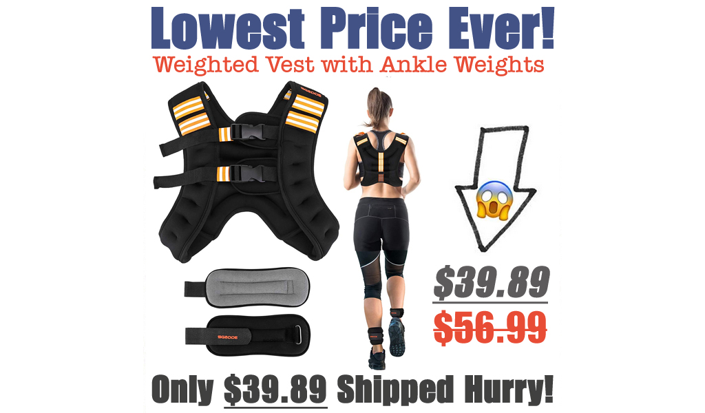 Weighted Vest with Ankle Weights Only $39.89 Shipped on Amazon (Regularly $56.99)