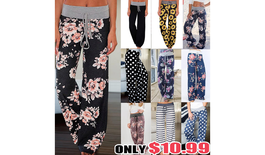 Women Floral Print Lounge Pants +Free Shipping!