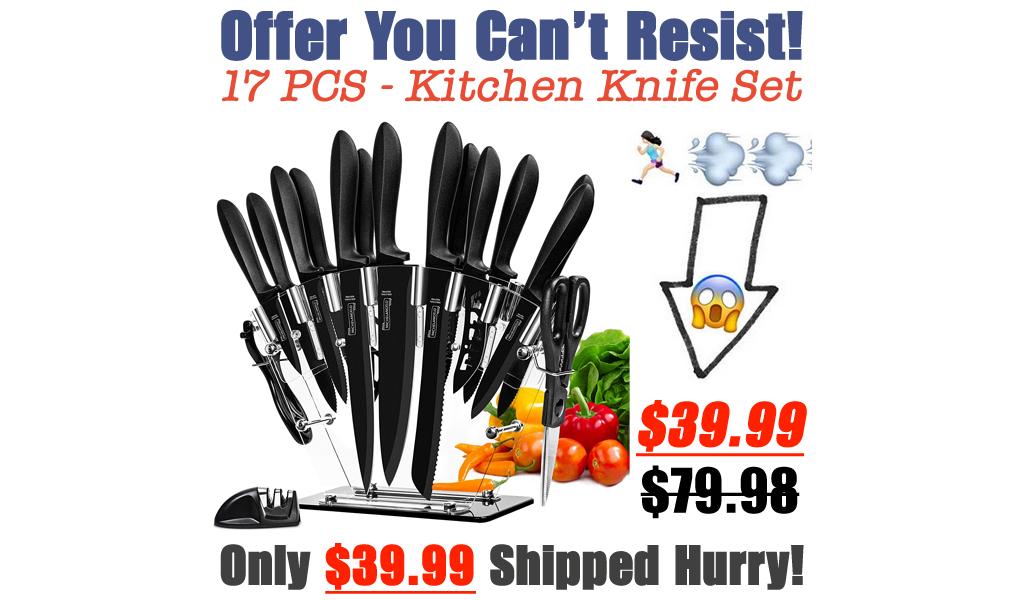 17 PCS - Kitchen Knife Set Only $39.99 Shipped on Amazon (Regularly $79.98)