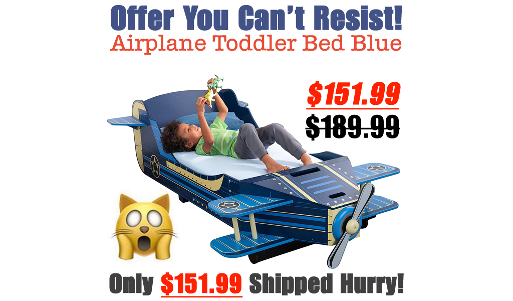 Airplane Toddler Bed Blue Only $151.99 Shipped on Amazon (Regularly $189.99)