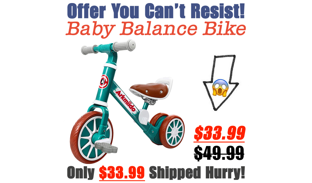 Baby Balance Bike Only $33.99 Shipped on Amazon (Regularly $49.99)