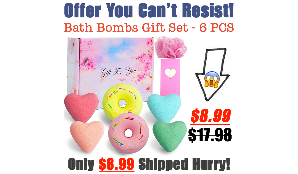 Bath Bombs Gift Set - 6 PCS Only $8.99 Shipped on Amazon (Regularly $17.98)