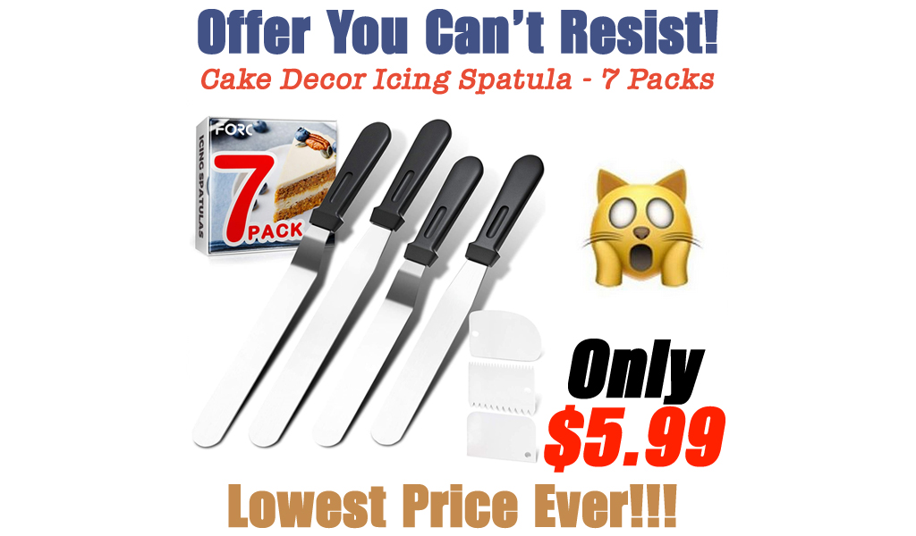 Cake Decor Icing Spatula - 7 Packs Only $5.99 Shipped on Amazon