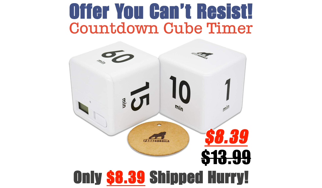 Countdown Cube Timer Only $8.39 Shipped on Amazon (Regularly $13.99)