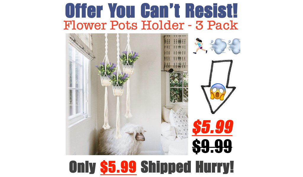 Flower Pots Holder - 3 Pack Only $5.99 Shipped on Amazon (Regularly $9.99)