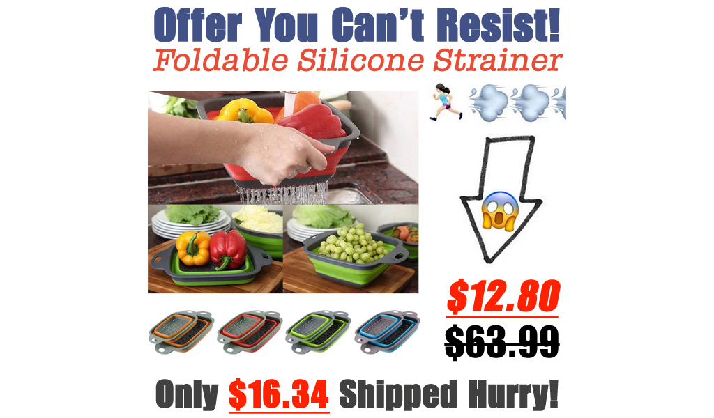 Foldable Silicone Strainer Only $12.80 Shipped on Amazon (Regularly $63.99)