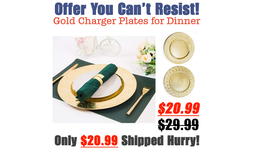 Gold Charger Plates for Dinner Only $20.99 Shipped on Amazon (Regularly $29.99)