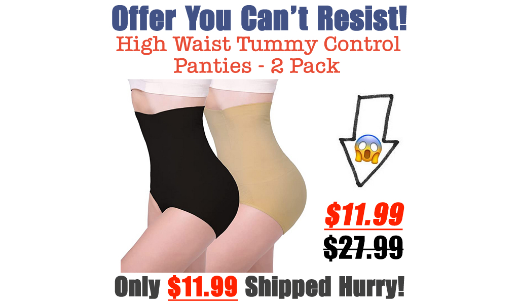 High Waist Tummy Control Panties - 2 Pack Only $11.99 Shipped on Amazon (Regularly $27.99)