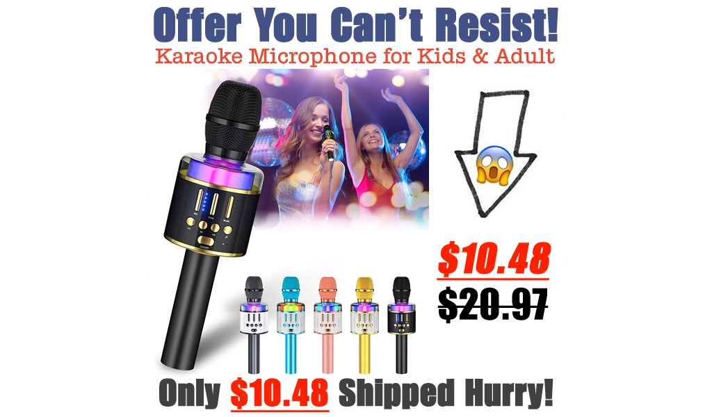 Karaoke Microphone for Kids & Adult Only $10.48 Shipped on Amazon (Regularly $20.97)