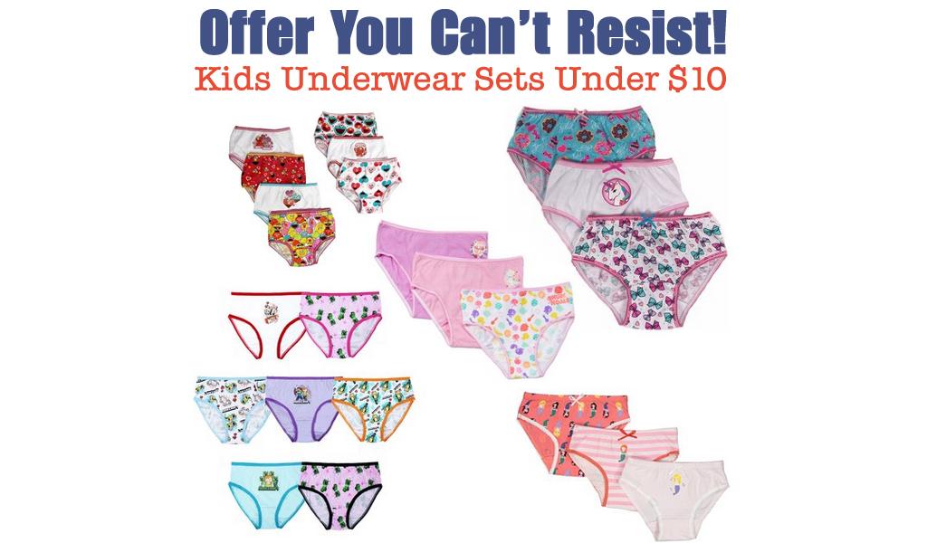 Kids Underwear Sets Under $10 on Zulily