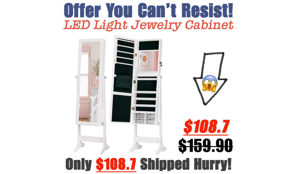 LED Light Jewelry Cabinet Only $108.7 Shipped on Amazon (Regularly $159.90)