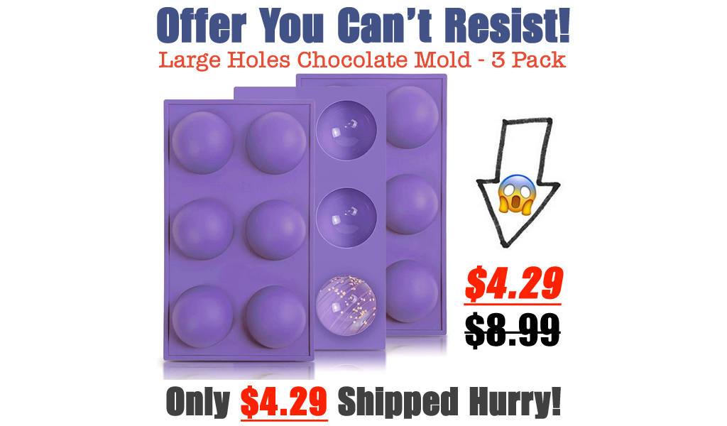 Large Holes Chocolate Mold - 3 Pack Only $4.29 Shipped on Amazon (Regularly $8.99)