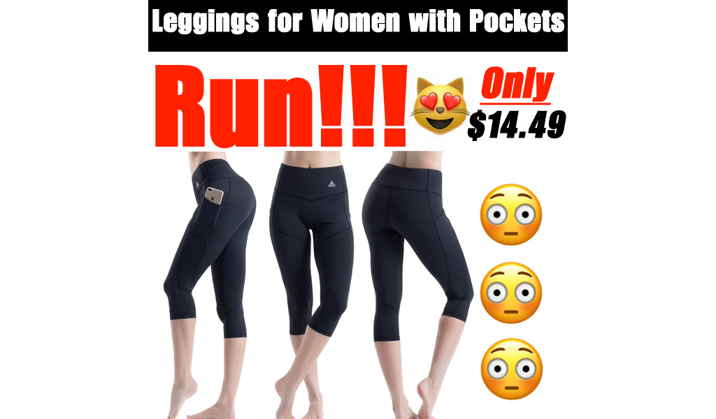 Leggings for Women with Pockets Only $14.49 Shipped on Amazon (Regularly $28.99)