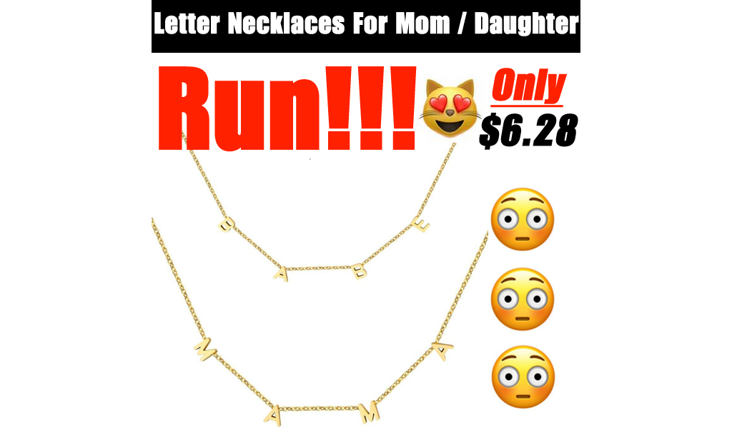 Letter Necklaces For Mom / Daughter Only $6.28 Shipped on Amazon (Regularly $13.97)