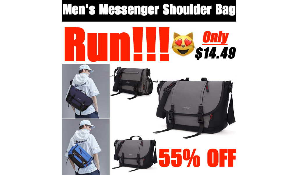Men's Messenger Shoulder Bag Only $14.49 Shipped on Amazon (Regularly $36.99)