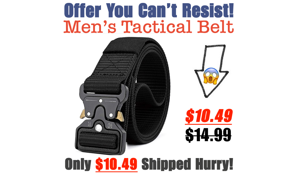 Men's Tactical Belt Only $10.49 Shipped on Amazon (Regularly $14.99)