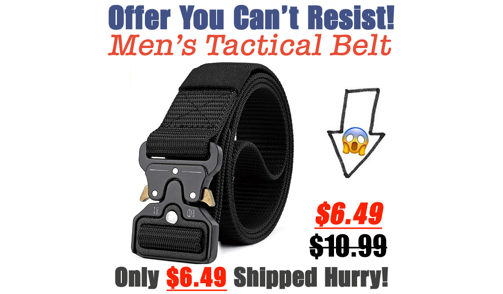 Men's Tactical Belt Only $6.49 Shipped on Amazon (Regularly $10.99)