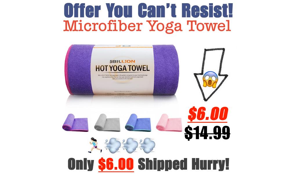 Microfiber Yoga Towel Only $6.00 Shipped on Amazon (Regularly $14.99)