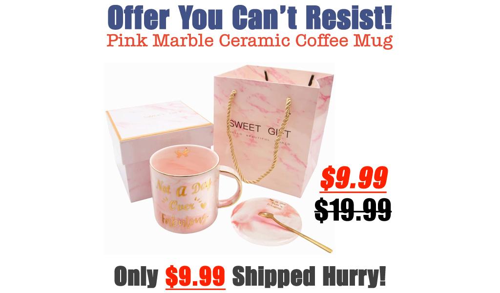 Pink Marble Ceramic Coffee Mug Only $9.99 Shipped on Amazon (Regularly $19.99)