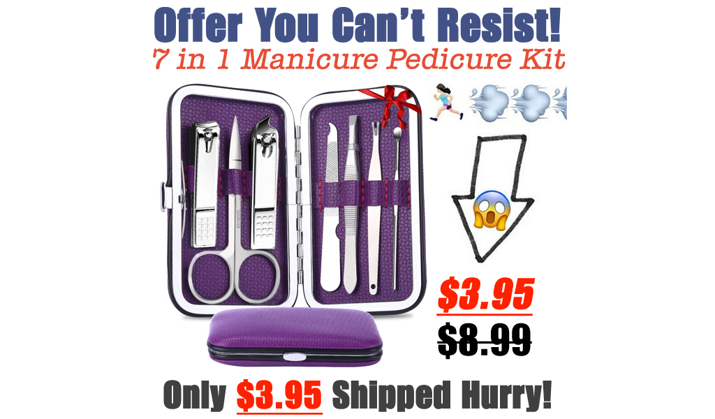 Professional 7 in 1 Manicure Pedicure Kit Only $3.95 Shipped on Amazon (Regularly $8.99)