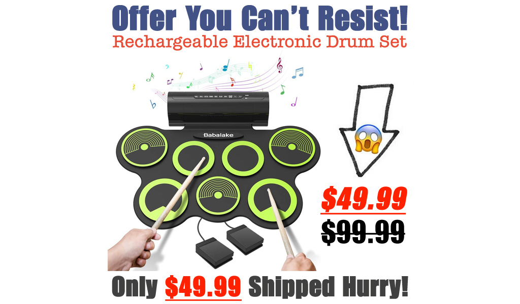 Rechargeable Electronic Drum Set Only $49.99 Shipped on Amazon (Regularly $99.99)