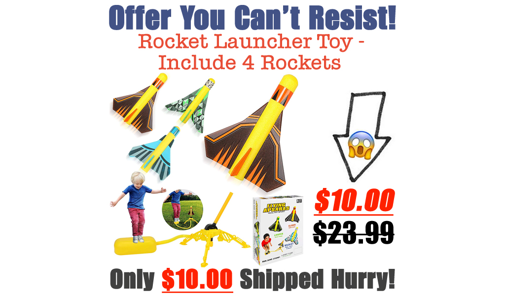 Rocket Launcher Toy - Include 4 Rockets Only $10.00 Shipped on Amazon (Regularly $23.99)