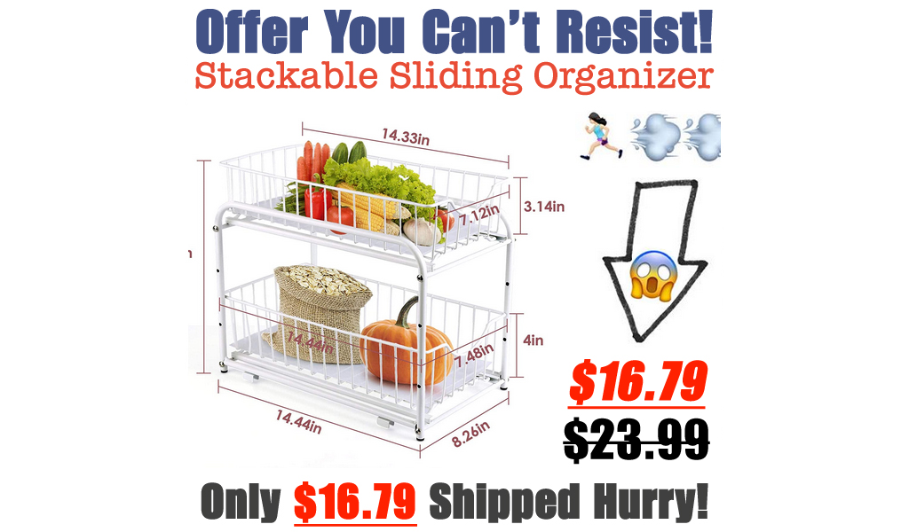 Stackable Sliding Organizer Only $16.79 Shipped on Amazon (Regularly $23.99)