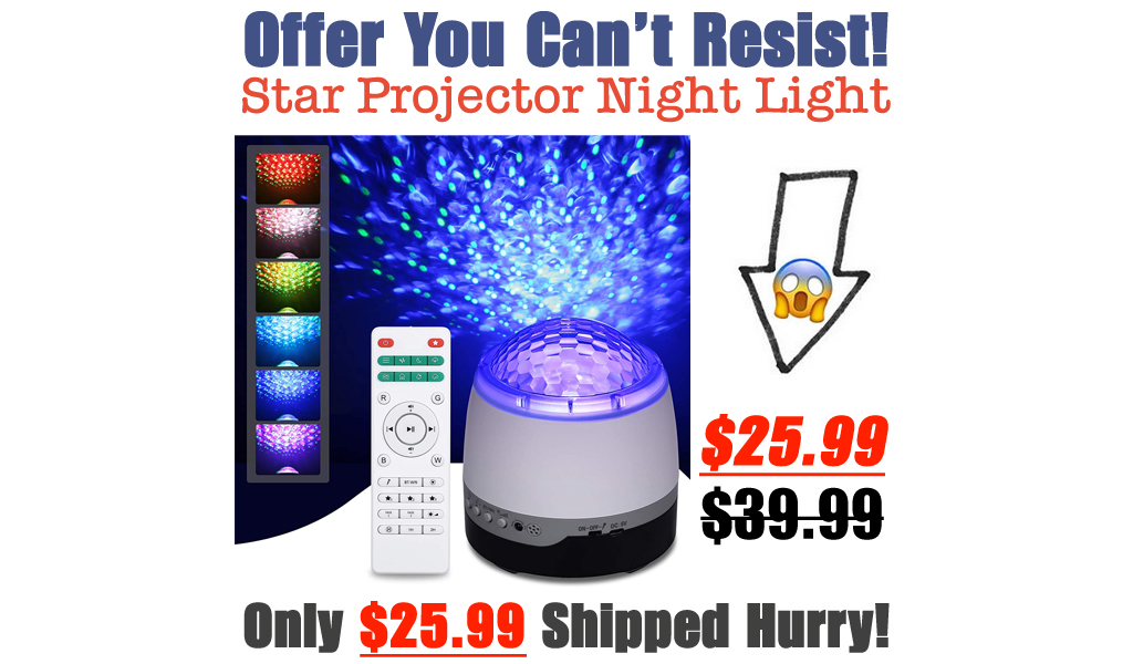 Star Projector Night Light Only $25.99 Shipped on Amazon (Regularly $39.99)