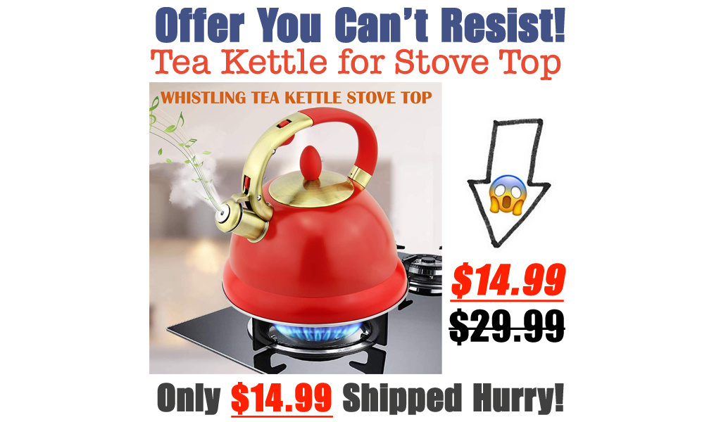 Tea Kettle for Stove Top Only $14.99 Shipped on Amazon (Regularly $29.99)