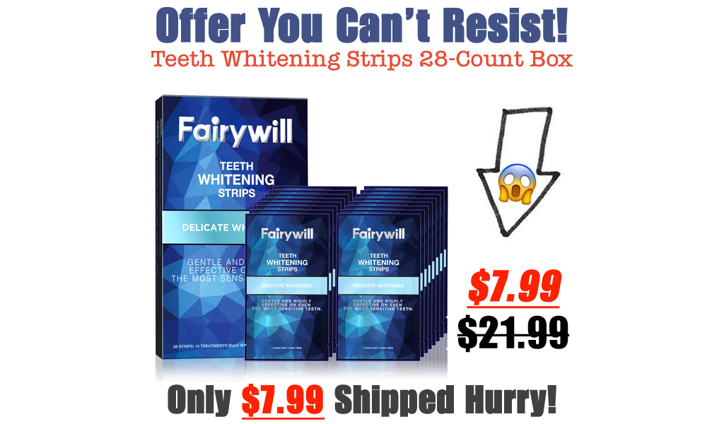 Teeth Whitening Strips 28-Count Box Only $7.99 on Amazon