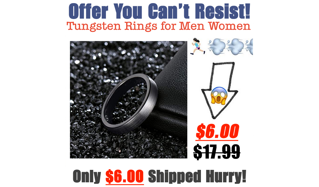 Tungsten Rings for Men Women Only $6.00 Shipped on Amazon (Regularly $17.99)