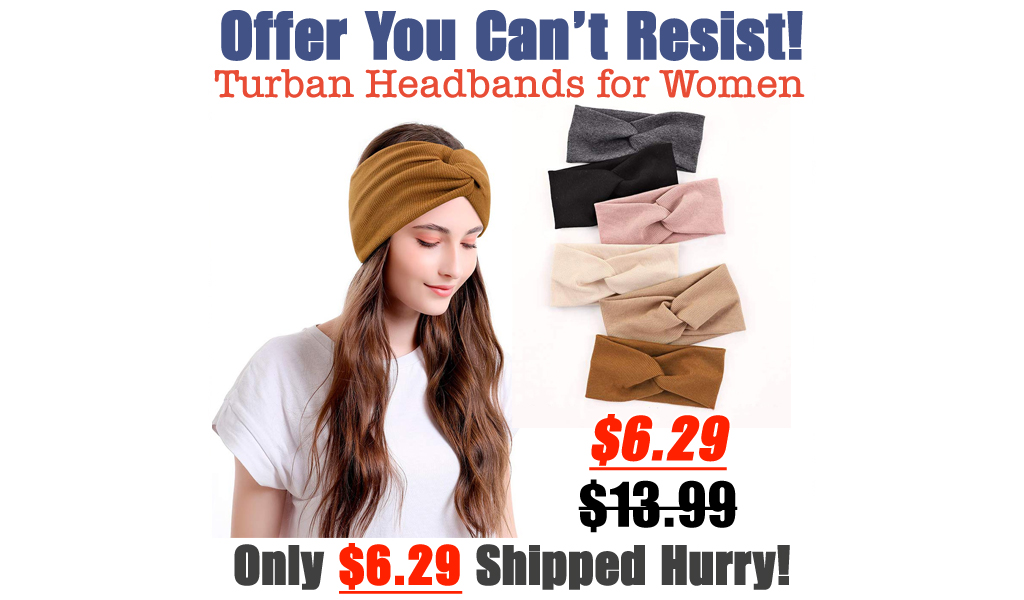 Turban Headbands for Women Only $6.29 Shipped on Amazon (Regularly $13.99)