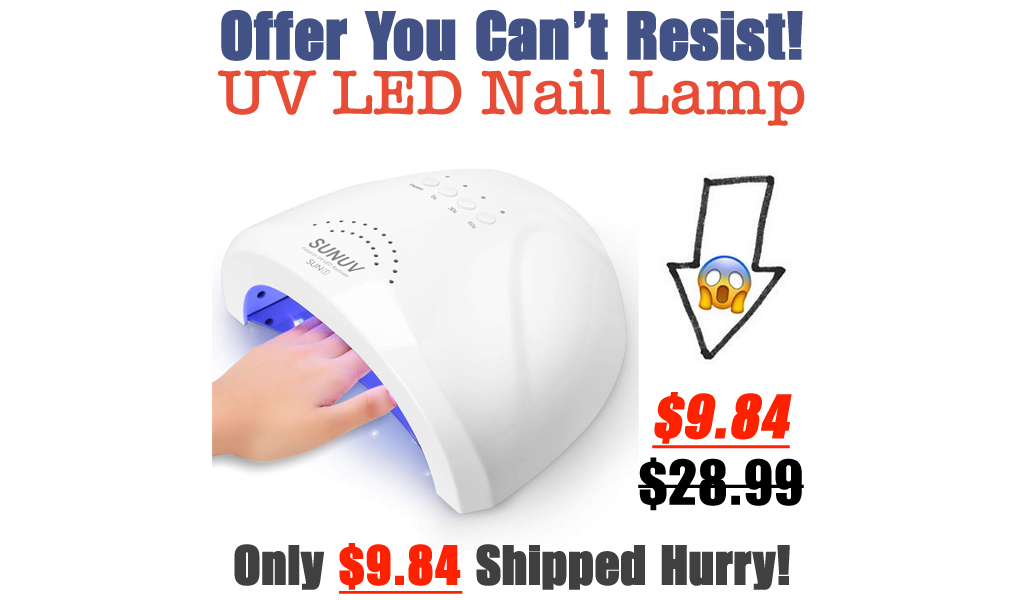 UV LED Nail Lamp Only $9.84 Shipped on Amazon (Regularly $28.99)