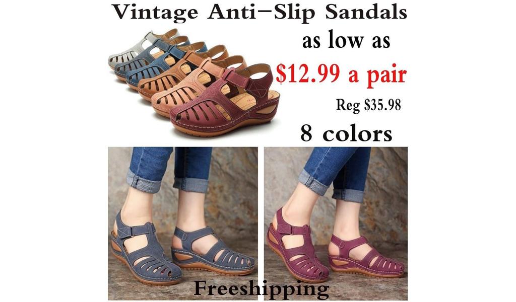Vintage Anti-Slip Sandals