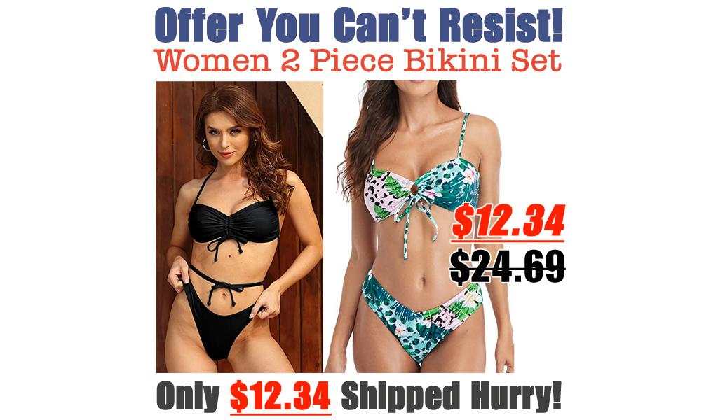 Women 2 Piece Bikini Set Only $12.34 Shipped on Amazon (Regularly $24.69)
