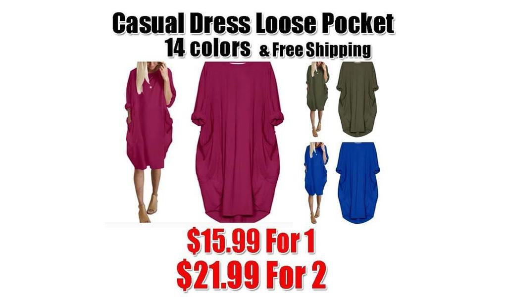 Women's Casual Long Dress + Free Shipping!