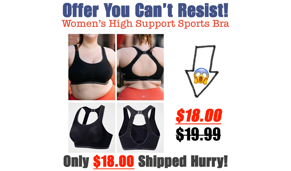 Women's High Support Sports Bra Only $18 Shipped (Regularly $19.99)