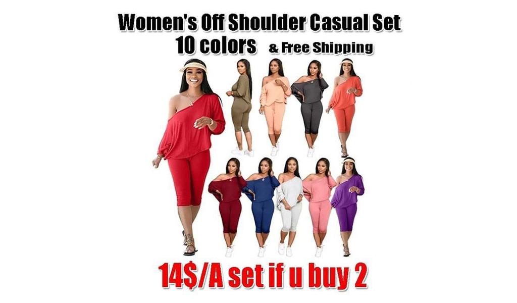 Women's off shoulder suit