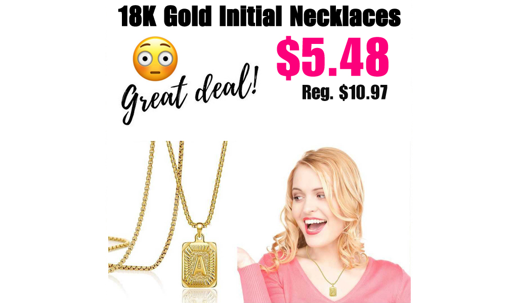 18K Gold Initial Necklaces for Women Only $5.48 Shipped on Amazon (Regularly $10.97)