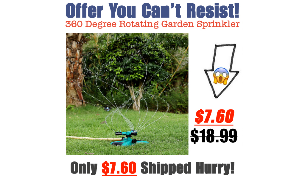 360 Degree Rotating Garden Sprinkler Only $7.60 Shipped on Amazon (Regularly $18.99)