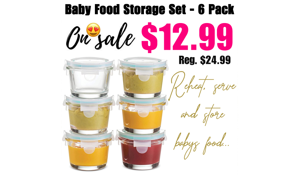 Baby Food Storage Set - 6 Pack Only $12.99 on Zulily (Regularly $24.99)